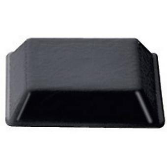 PB Fastener BS-32-BK-R-10 piedi autoadesive, quadrato nero (W x H) 12,7 x 3 mm 10/PC