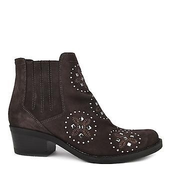 Kanna Kelly Studded Bistro Suede Ankle Boots
