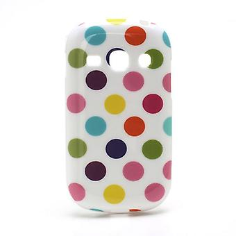 Suojakotelo mobiili Samsung Galaxy mainetta S6810 valkoinen/värillinen