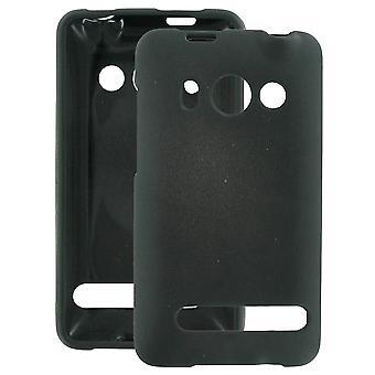 HTC Evo 4G Snap-On suojakotelo - musta