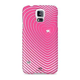 Pack 5 - diamants blancs Heartbeat étui pour Samsung Galaxy S5 - rose