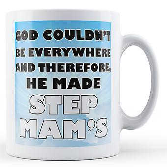Gud kunne ikke være overalt, og derfor, han gjorde skridt mam trykt krus