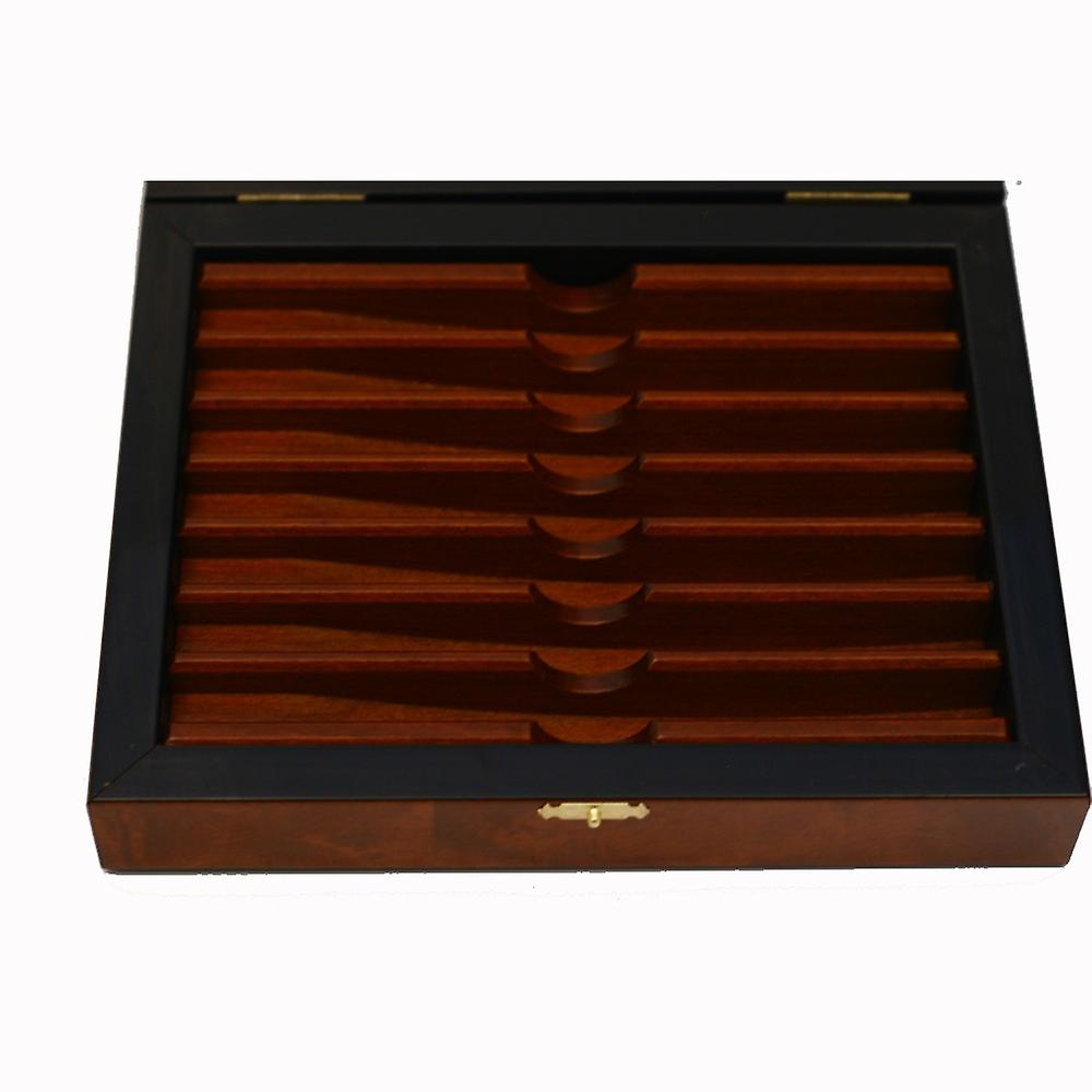 Deluxe elm burl box for 7 days straight razors set or collection Direct from France