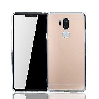 Cubierta de caja suave de la protección del espejo de espejo LG G7 Mobile Shell oro rosa