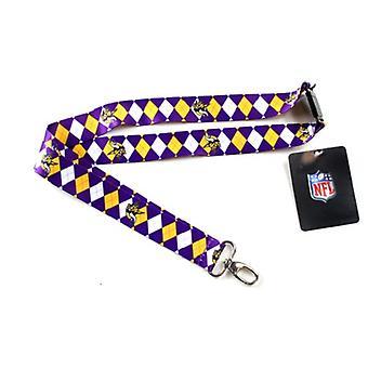 Minnesota Vikings NFL Argyle logoband