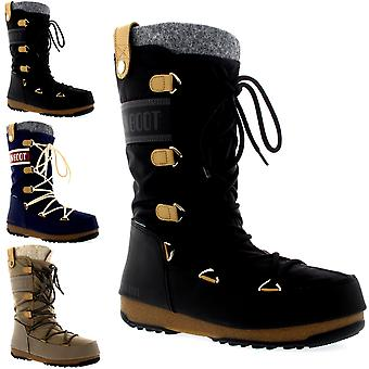 Womens Tecnica Original Moon Boot Monaco Felt Winter Waterproof Mid Calf Boots