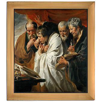 With Ram The Four Evangelists, Jacob Jordaens, 61x51cm