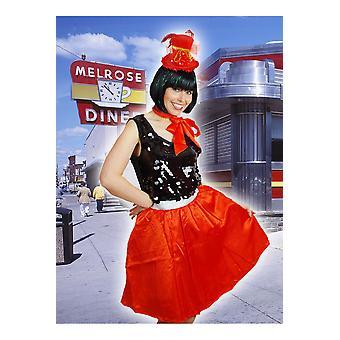 Tutu petticoat winkel vrouwen rood retro rok en sjaal