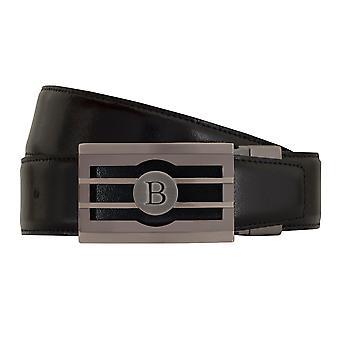 Мигель BELLIDO Класико ремня пояса Мужские ремни кожаные пояса черный/коньяк 7732