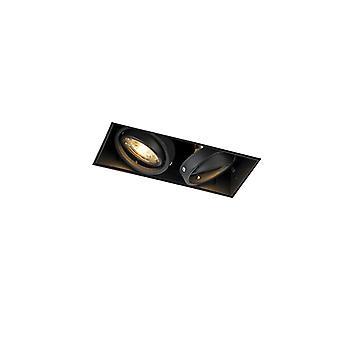 QAZQA Recessed Spotlight Black Trimless - Oneon 2