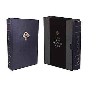 NKJV, Deluxe Reader's Bijbel, doek over bestuur, Blue, Comfort Print