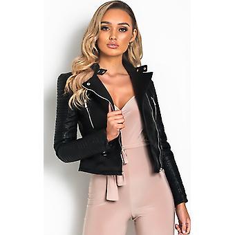 IKRUSH Womens Randy Faux Leather Jacket