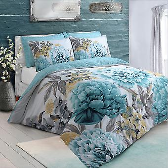 Pieridae Large Floral Bloom Duvet Cover Set