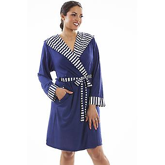 Camille Camille Womens Lightweight Hooded Summer Dressing Gown