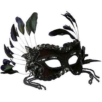 Musta venetsialainen naamio