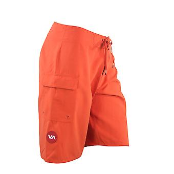 RVCA Mens Western II Boardshorts - Red Clay Red - surf skate swim