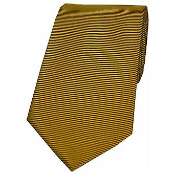 David Van Hagen horizontale côtelée cravate Polyester - or foncé