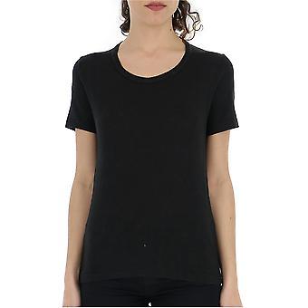 Isabel Marant Ts0378004e01bk Women's Black Linen T-shirt