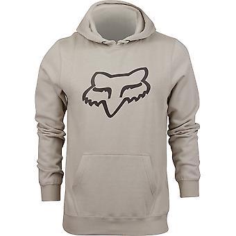 Fox Racing Mens Legacy Fox Head Pullover Fleece Hoodie - Sand/Black