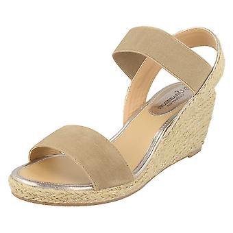 Ladies Savannah High Rope Wedge Sandals F10865