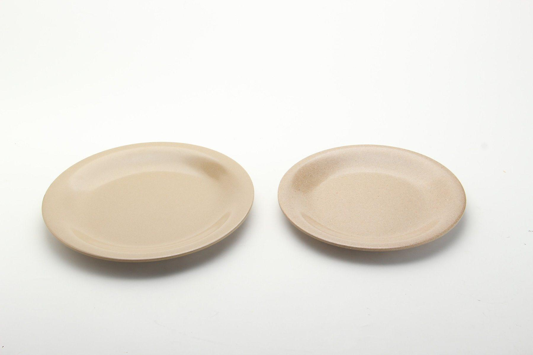 OLPRO Husk Round Plate x 4 Outdoor Tableware Microwave and Freezer Safe