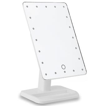Cosmetic mirror with LED lamps-white