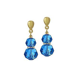 Eternal Collection ECHO Capri Blue Itävallan Crystal Gold Tone Drop Clip korva korut
