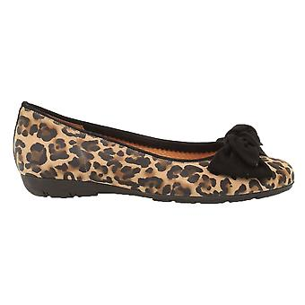 Gabor Pump-Leopard Print With Bow-Redshank 34.163