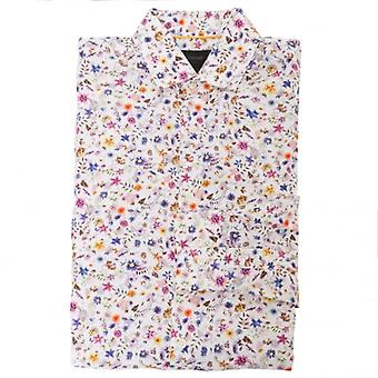 Duchamp of London Petit Floral Print Shirt, Petal