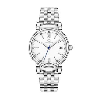 Granton Women�s Silver Tone Watch - Diamond Accented Enamel Dial - Swiss Movement Stainless Steel � Ladies Size � Imperial Collection
