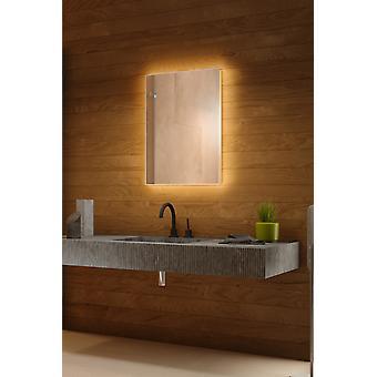 RGB bakgrunnsbelyst speil med sensor, Demister & barbermaskin socket k704BLrgb