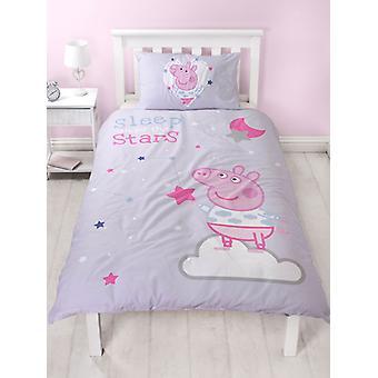 Peppa Pig Sleepy Duvet Cover and Pillowcase Set