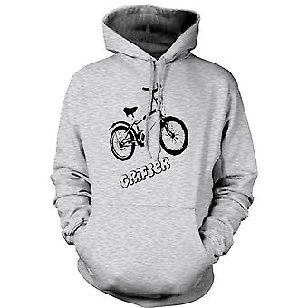 Mens-Hoodie - Grifter - altes Skool Retro Fahrrad