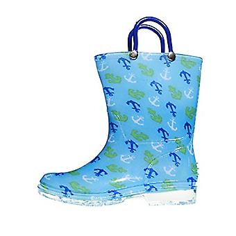 Zac & Evan Toddler Boys Printed High Cut Puddle Proof Rain Boots
