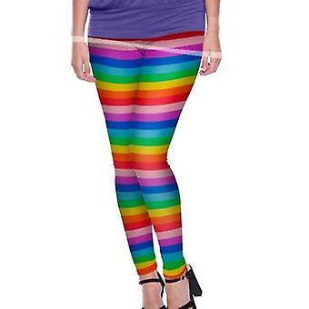 Leggings arco-íris colorido collants senhoras um tamanho