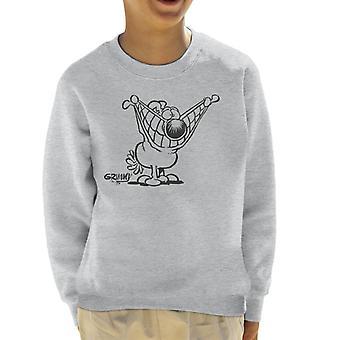 Grimmy Pulling A Smile Kid's Sweatshirt