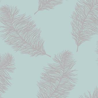 Holden Decor Holden Fawning Feather Pattern Fond d'écran Motif métallique Bird Fern Leaf 12628