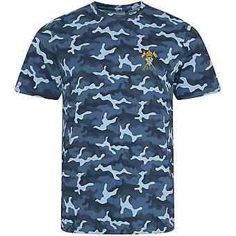 21. Lancers Empress av Indias-lisensierte britiske hæren brodert camouflage print T-skjorte