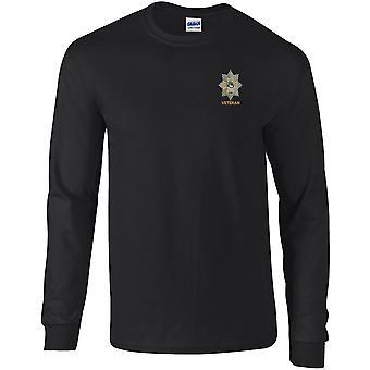 Worcestershire & Sherwood Foresters veteran-licensierade brittiska armén broderade Långärmad T-shirt