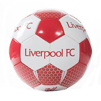 Liverpool FC Vortex Official Supporter Football Soccer Ball Red/White - Size 5