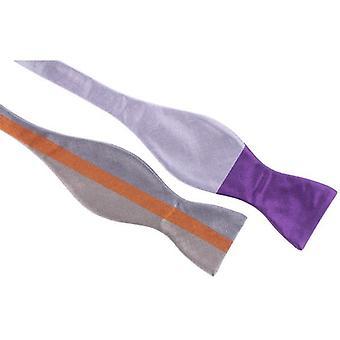 Gene Meyer Center Line Bow Tie - Purple/Multi-colour