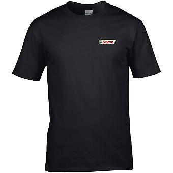 Castrol olje-biker bil motorsykkel brodert logo-bomull Premium T-skjorte