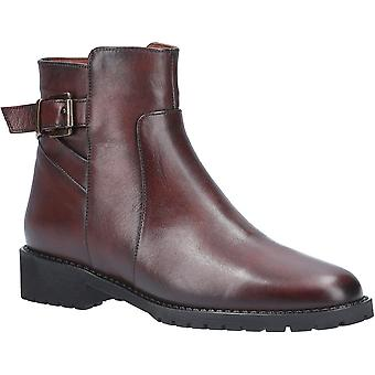 Riva Womens Mykonos Soft Leather Buckle Zip Up Ankle Boots