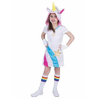 Unicorn Twinkle Light Kinder Kostüm Kleid Einhorn Märchen Mädchen Kinderkostüm Regenbogen Karneval Fasching Pierros
