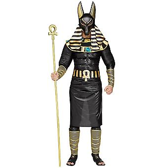 Anubis The Jackal Egyptian God Of Dead War Ancient Egypt Adult Mens Costume OS