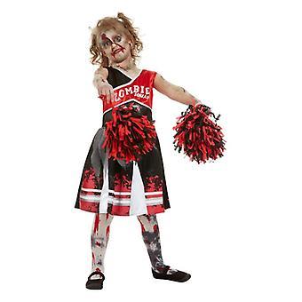 Jenter Halloween zombie cheerleader Fancy Dress drakt