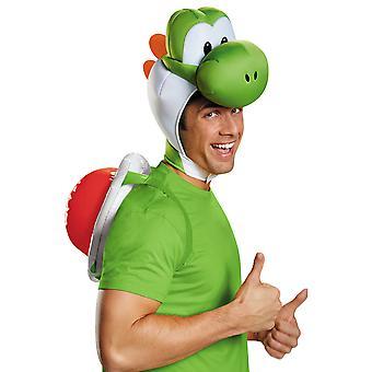 Yoshi Deluxe Super Mario Nintendo video peli miesten puku Kit Shell headpiece