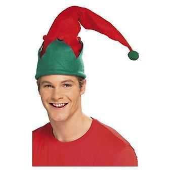 Červený elf klobúk vianočné maškarné šaty príslušenstvo