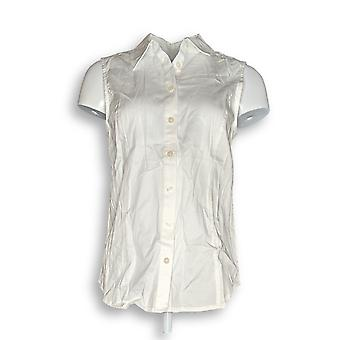 Joan Rivers Classics Collection Women's Top Collared White A303952