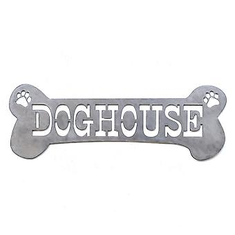 Doghouse-Metal cut teken 24x8in